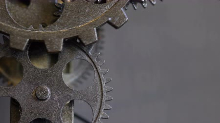 time machine : Rusty Metal Mechanic Clock Gears
