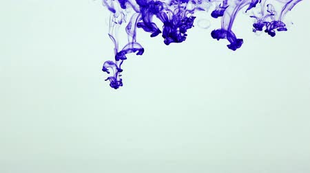 ink drop : Abstract Ink Paint Art Blend Colorful Splash in Underwater Stock Footage