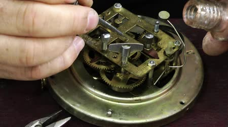 rész : Old Technology Clock Mechanic Repair