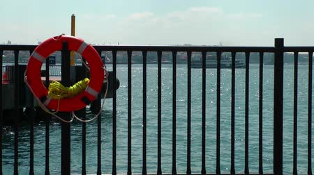 preserver : Life Buoy Emergency Safety Protection Stock Footage