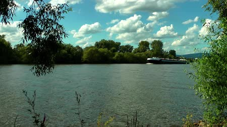 наводнение : Ferryboat passes from the river