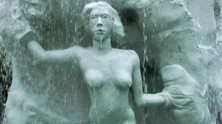 judiciary : Woman statue under the waterfall Fountain