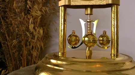 discar : The old Clock and Metal Balls Moving Stock Footage
