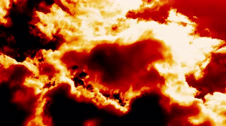 heaven and hell : Burning Fire Clouds like Devil Hell