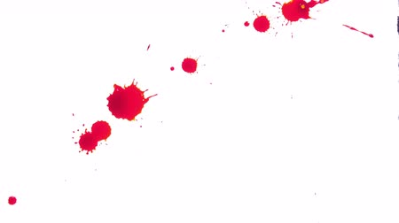 bleed : Red Blood Spread on White Background Stock Footage