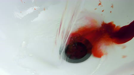 bleeding : Blood on Bath Washing Stand