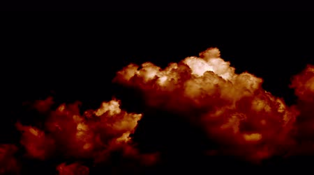 heaven and hell : Fire Burning like Hell Armageddon Clouds on Sky Stock Footage