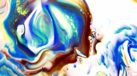 Abstract Colorful Paint Ink Liquid Explode Diffusion Psychedelic Blast Stock Footage
