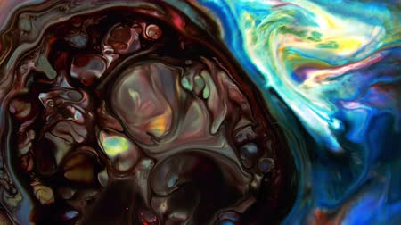 Abstract Colorful Paint Ink Liquid Explode Diffusion Psychedelic Blast Стоковые видеозаписи