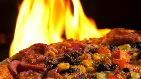 calabresa : Delicious Italian Pizza on Fire