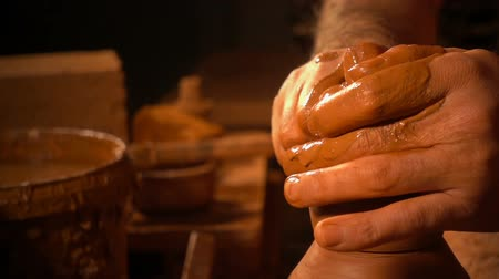 Pot gemaakt van Clay Workshop Stockvideo