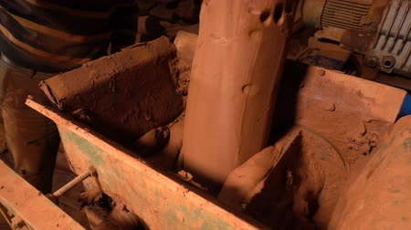 Clay vormmachine Stockvideo