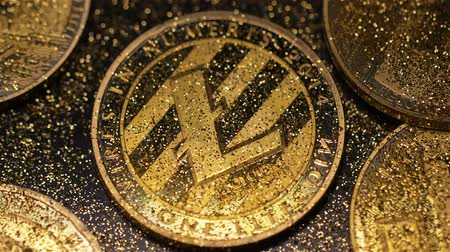 vantagem : macro litecoin with light reflection belongs to electronic money included in highly profitable investments category