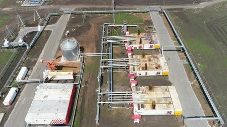 cercar : panorama petroleum manufacturing plant territory with buildings