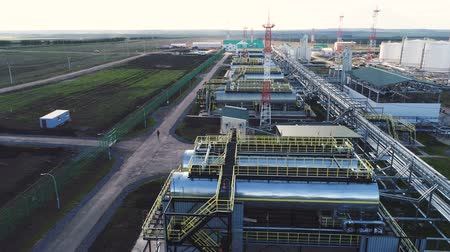 cercar : panoramic view steel fuel reservoirs