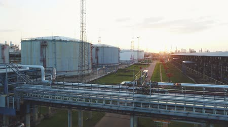 petroleum refinery : upper view vehicle in Petroleum territory