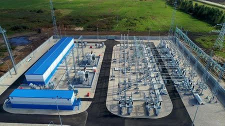 watt : substation for transmitting electrical energy in rural area Stok Video
