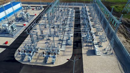 direct current : high voltage substation transforms direct current into alternating