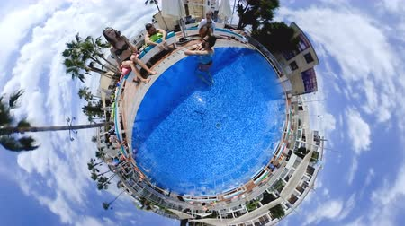 крошечный : Tiny little planet 360 degree of resort city
