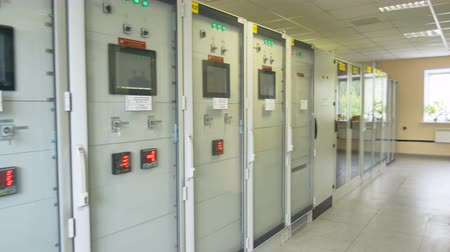 voltů : electric equipment in cupboards with glass doors