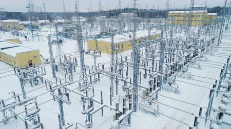 кабель : buildings insulators and switchgears at substation