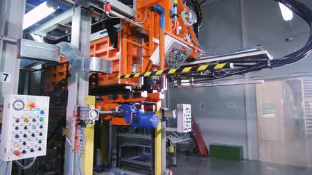 refrigeração : automated machine with control panels in plant workshop