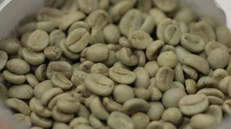 sperziebonen : Korrels van Green Coffee