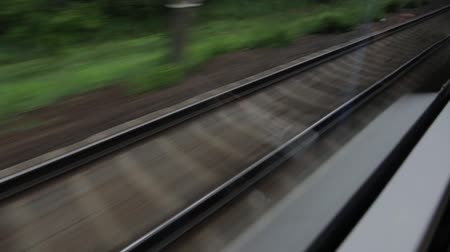 compartimento : Railroad From The High Speed Train Window