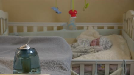 ion : Humidifier In Child Room Stock Footage