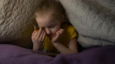 kraker : Sleepy Little Girl With Phone