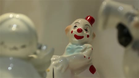 statuette : White Clown Figurine