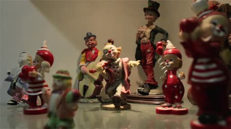 statuette : The Clown Figures Set Stock Footage