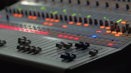yapımcı : Professional Sound Console Faders Stok Video