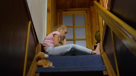 resentment : Little Girl Is Waiting For Parents