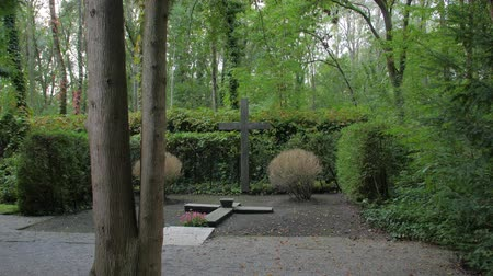 headstone : Cross Memorial In The Forest