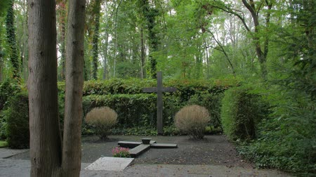 headstone : Cross Monument In The Forest