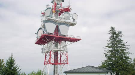 base station : TV Tower In The Forest Stock Footage