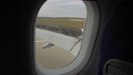 Plane Is Landing Window View