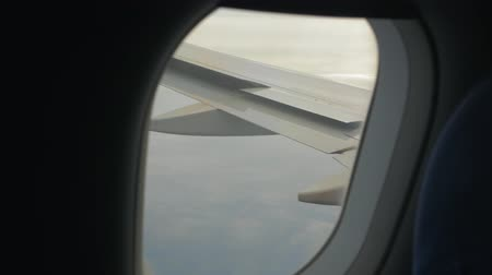 Wing Flaps From Airplane Window