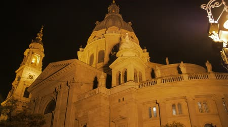 Catholic Temple Facade At Night