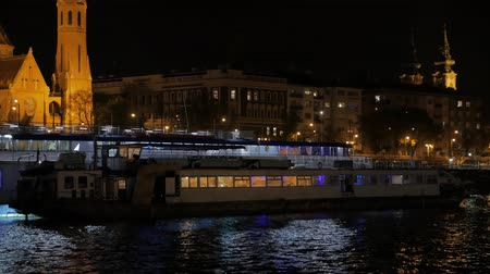 Pleasure Boat At Night