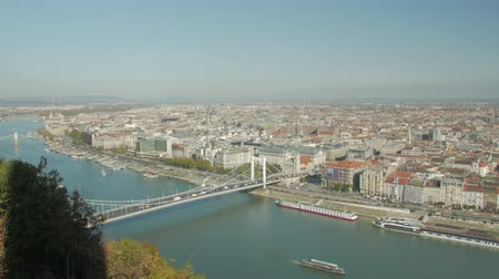 Budapest Cityscape Panorama Stock Footage