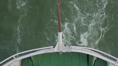 Stern Of Boat Waves Stock Footage