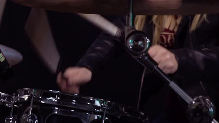 musical intrument : Girl Playing Drums