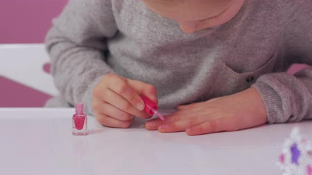 Little Girl Paint Nails
