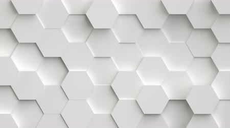 головоломки : Abstract movable background from 3D hexagons. Every shape moves randomly and forms movable and magic backdrop, seamless loop. You can colorized this footage as you like.
