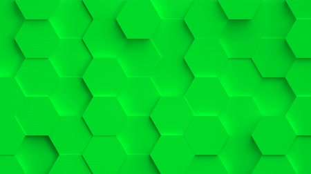 hive : Abstract movable colorful background. Every shape moves randomly and forms movable and magic backdrop, seamless loop. In 10 sec of seamless video hexagons are colorized in all colors of the rainbow. Stock Footage