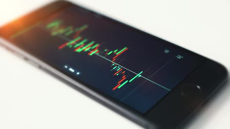 stock market on smartphone
