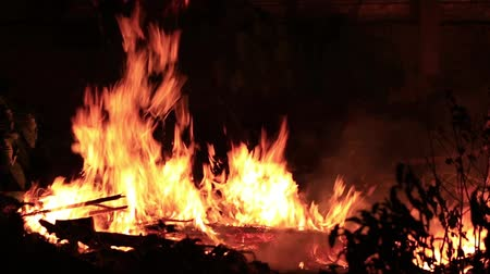risco : Fire burns out of control night