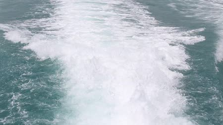 probudit : Video 1920x1080 blue ocean sea with fast yacht boat wake foam of prop wash